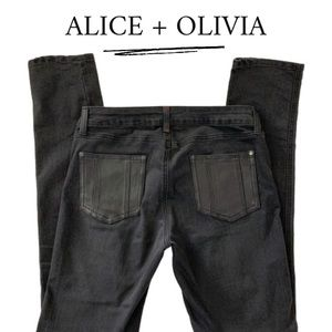 ALICE + OLIVIA JEANS | WITH LEATHER